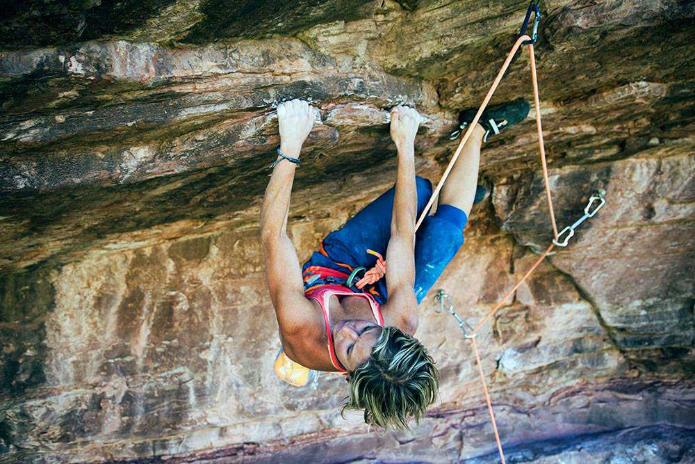 ClimbingGirls-12-Mayan Smith-Gobat does the Horizontal Bop (5.12d) Photo by Aaron Colussi