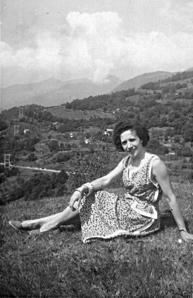 Fiammetta Amej Gogna a Bieno Valsugana, agosto 1955