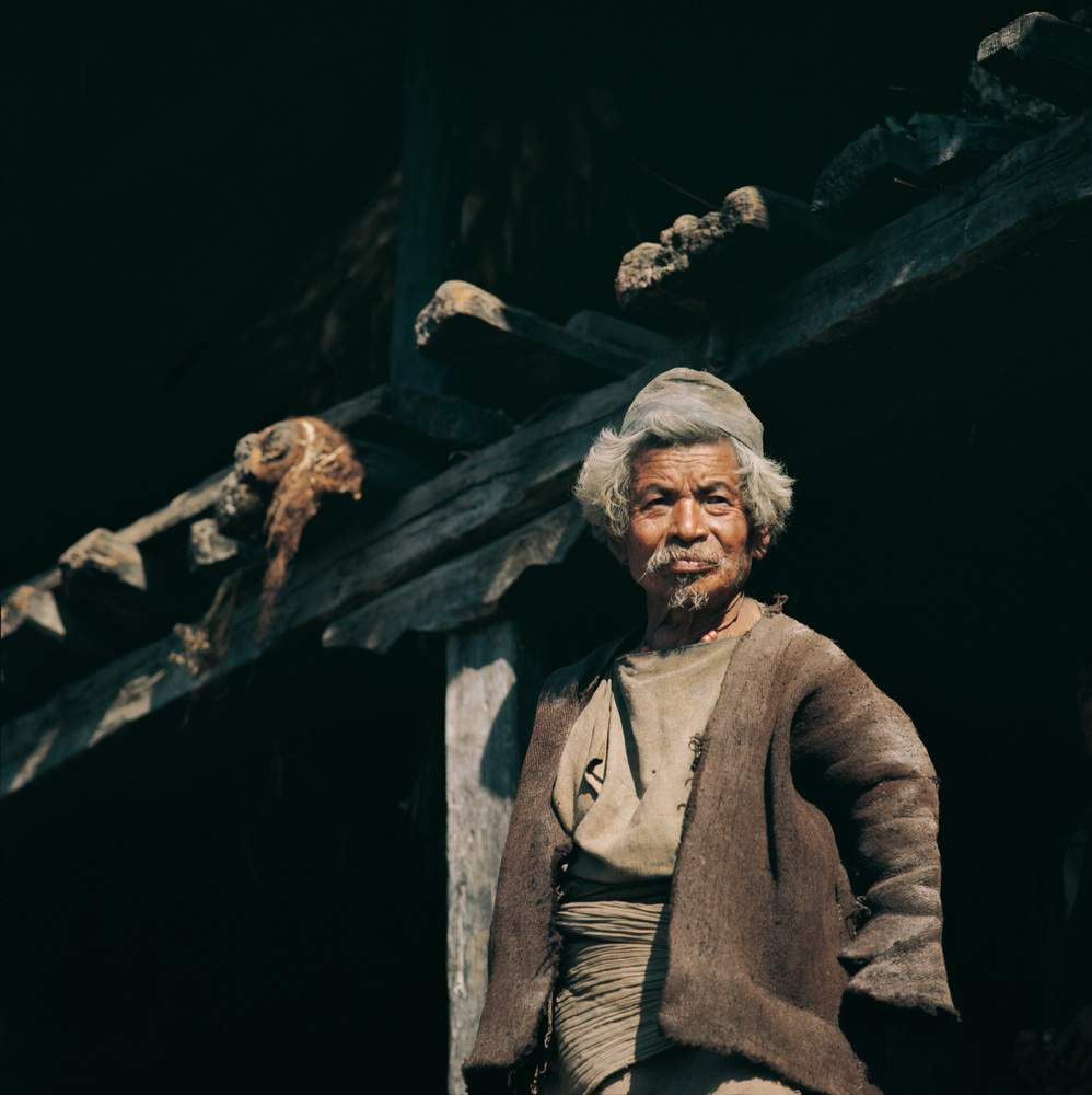 Anziano della Langtang Valley, Nepal