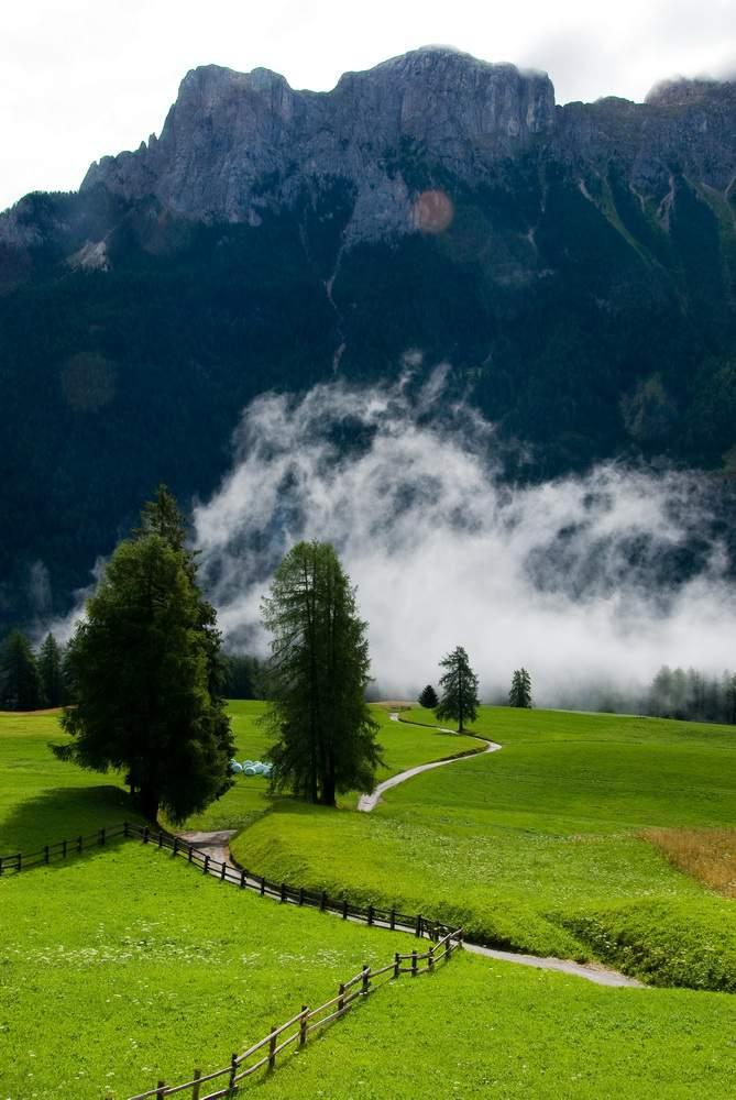 Tamion, Val di Fassa, verso Cima Dodici e Sass Aut (Monzoni)