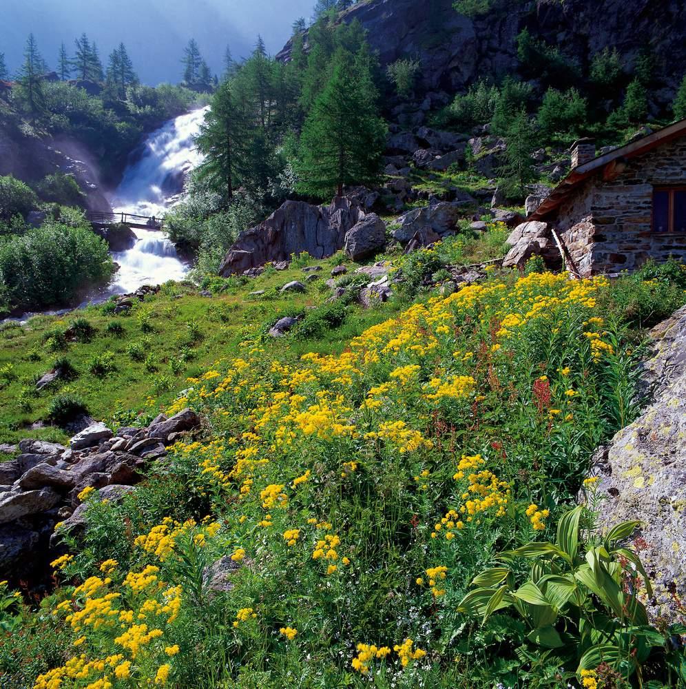 Vallone dei Laures, baite di Le Tramail, gruppo del Monte Emilius, Valle d'Aosta
