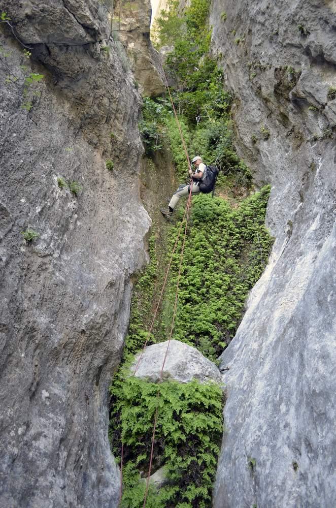 Sardegna, Supramonte di Baunei, discesa del Bacu Esone, canyoning,