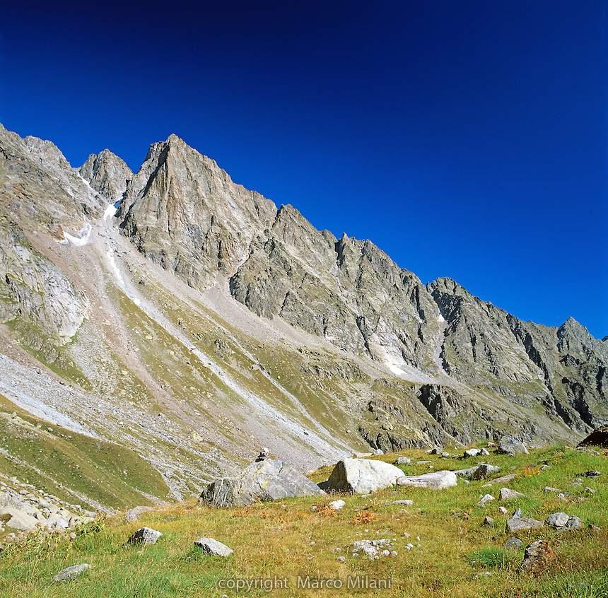 Becco di Valsoera western face, Gran Paradiso National Park -- Becco di Valsoera, versante ovest Parco Nazionale del Gran Paradiso