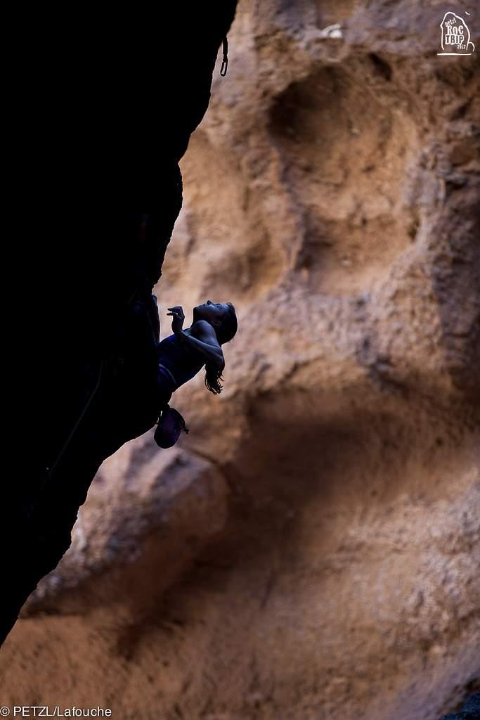 ClimbingGirls-25-Nina Caprez, climbing in La Buitrera Canyon